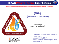 TFAWS 2017 Presentation Template
